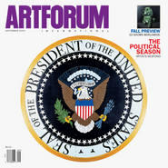 "Cover: Tom Sachs, Presidential Seal, 2004, mixed media, 108 x 108"". Inset: Glenn Brown, Anaesthesia, 2001, oil on panel, 41 1/2 x 32 5/8""."