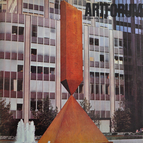 Barnett Newman (1905-1970), Broken Obelisk, corten steel, 26' high, 1967. (Color courtesy Lippincott, Inc.)